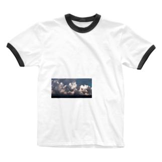 モクモ雲 Ringer T-shirts