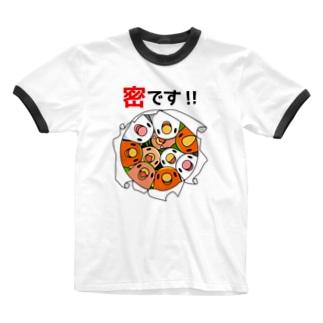 まめるりはことりの密です!コザクラインコさん【まめるりはことり】 Ringer T-shirts