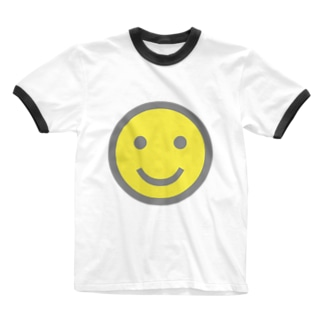 スマイル Ringer T-shirts