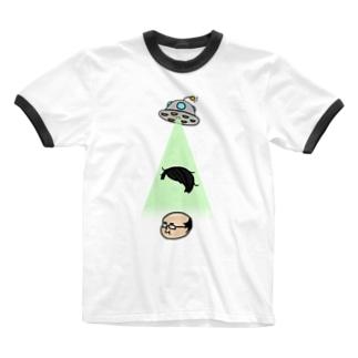 とらないで Ringer T-shirts