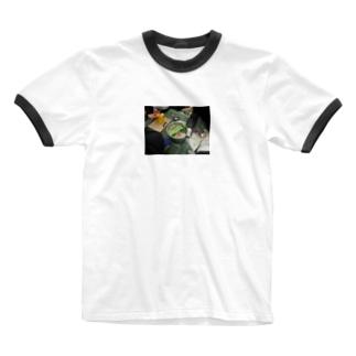 幹事長のもつ鍋 Ringer T-shirts