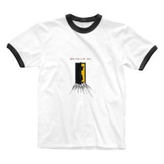 こっちへおいで Ringer T-shirts
