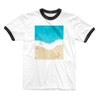 マリンTime Ringer T-shirts
