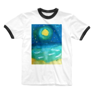 sea the moon Ringer T-shirts