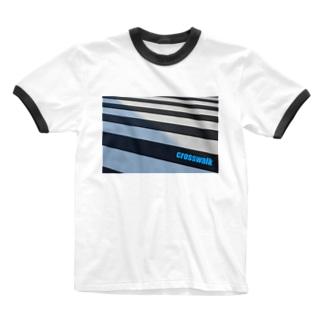 横断歩道 Ringer T-shirts