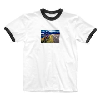 田舎サイクリング Ringer T-shirts