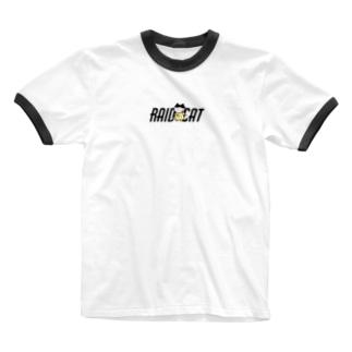 かちこみねこちゃん Ringer T-shirts