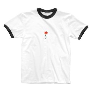 ニワの花 Ringer T-shirts
