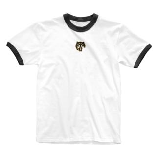 SAKUちゃんアライグマ全身ver. Ringer T-shirts