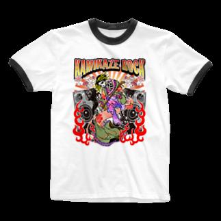 MackToons A.K.A カキ天のカミカゼロック!!!! Ringer T-shirts