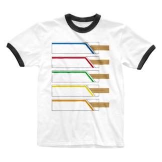 割りばし Ringer T-shirts