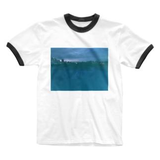 豊平川ティー Ringer T-shirts