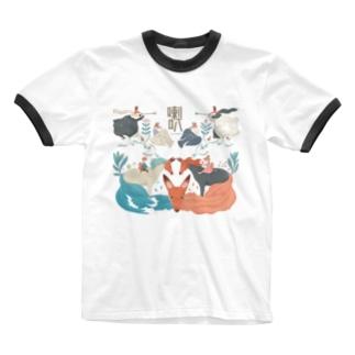 キツネの喇叭(らっぱ) Ringer T-shirts