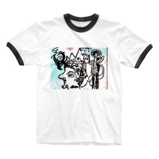 とのさまにんじゃ Ringer T-shirts