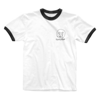 ぎゅうにゅうひげ Ringer T-shirts