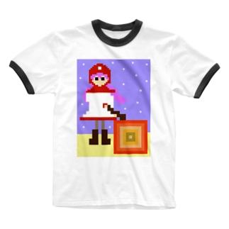 ムーンブルクの王女「メラ。」(from ドラゴンクエストⅡ) Ringer T-shirts