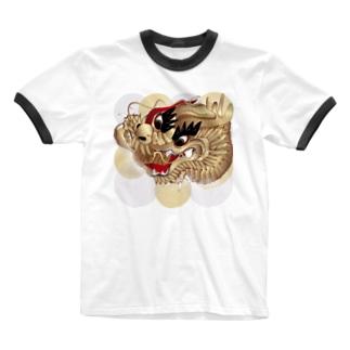 祭り刺繍 Ringer T-shirts