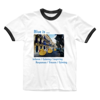 Blue is... Ringer T-shirts