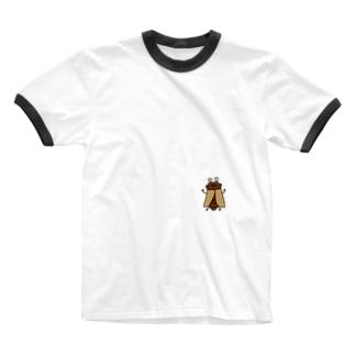 あ!セミさんがとまっているよTシャツ Ringer T-shirts