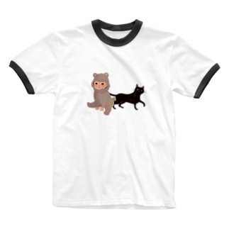 BearBaby&Cat Ringer T-shirts