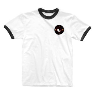 蟹をチン!ロゴ Ringer T-shirts