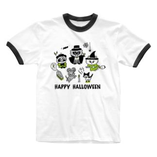 HAPPY HALLOWEEN Ringer T-shirts