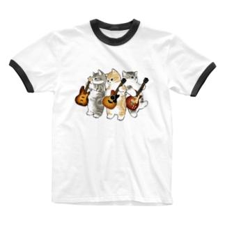 mofusandの君のために歌う「ニャー」 Ringer T-shirts