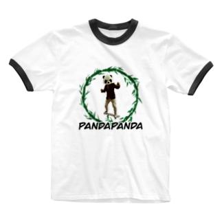 パンダパンダ先生のパンダ学習塾のパンダパンダ先生 Ringer T-shirts
