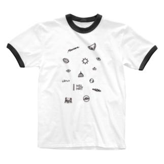 フィンランドの概念 (黒/タテ) Ringer T-shirts