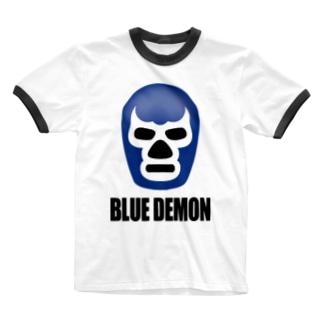 BLUE DEMON / ブルーデモン Ringer T-shirts