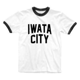 磐田市 IWATA CITY Ringer T-shirts