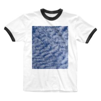 いわし雲photo Ringer T-shirts