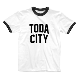 戸田市 TODA CITY Ringer T-shirts