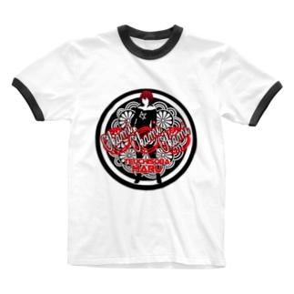TK-pro(手打ちそばまる_女将) Ringer T-shirts