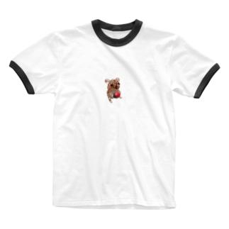 イチゴを持ったナキネズミちゃん Ringer T-shirts