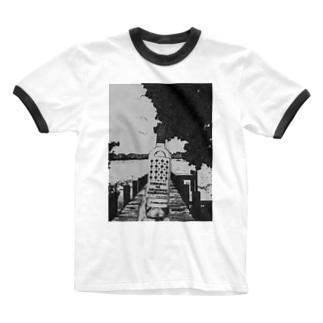 "Salida del sol""世界を股に掛けよ"" Ringer T-shirts"