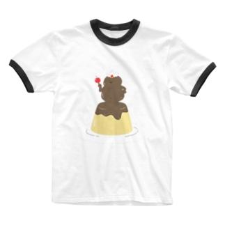 プリンの魔人 Ringer T-shirts