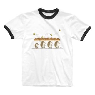 パンを運ぶよ Ringer T-shirts