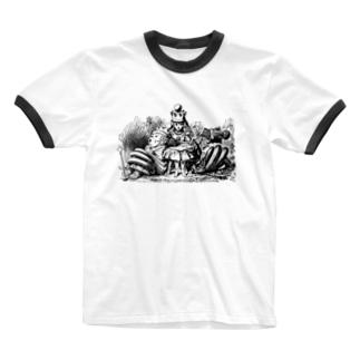 鏡の国のアリス 女王アリス Ringer T-shirts