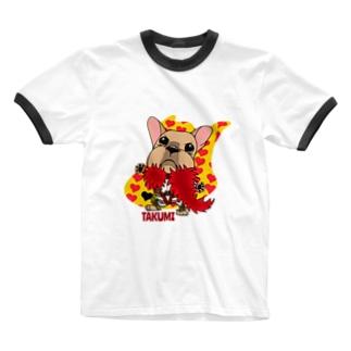 彩羽 匠 takumi irohaのわさイラスト Ringer T-Shirt