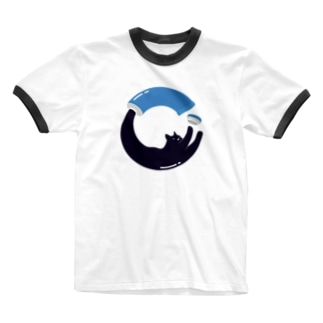 Cat from tube Ringer T-shirts