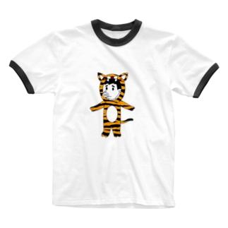 タイガーピッグ Ringer T-shirts