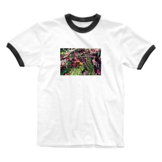 もみじ Ringer T-shirts