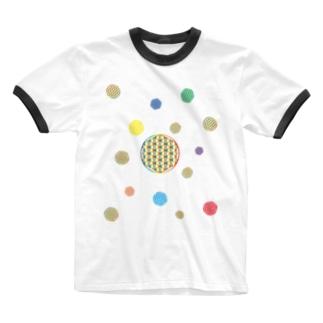 虹チャクラ裏版 Ringer T-shirts