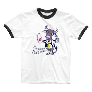 *suzuriDeMonyaa.tag*のCT77水牛 Ringer T-shirts