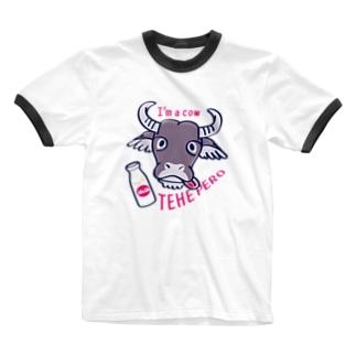 CT78水牛くんB*A Ringer T-shirts