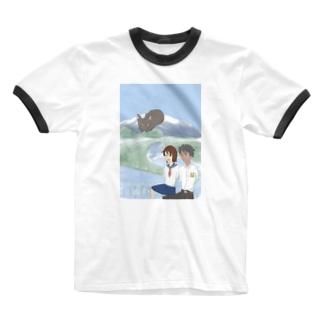 遥かな尾瀬 Ringer T-shirts