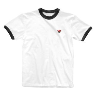 キノコ太郎 Ringer T-shirts