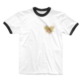 みのむしの妖精レム Ringer T-shirts
