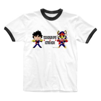 とちおんがーすぱーく Ringer T-shirts